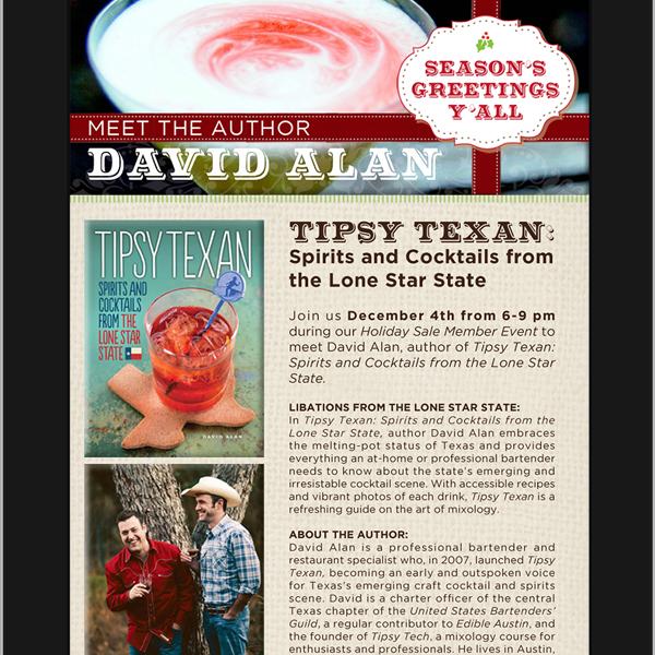 SPB Tipsy Texan Email Blast by Designer Julie_Mendez