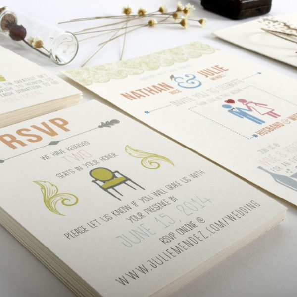 Wedding invitations designed by Julie Mendez