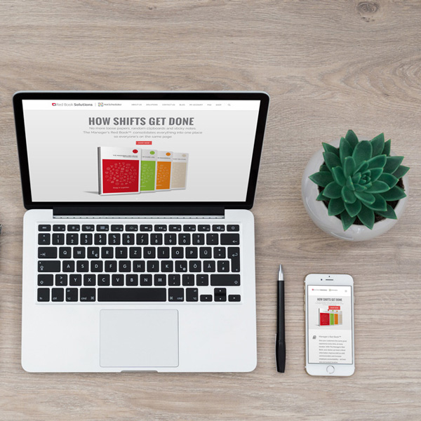Responsive RedBookSolutions.com website designed by Designer Julie Mendez