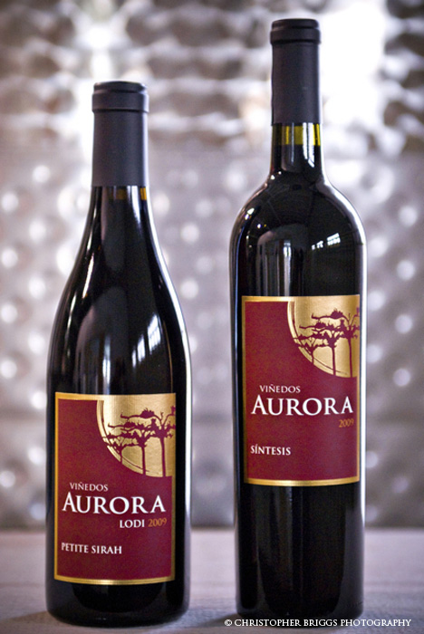 Viñedos Aurora wine logo and label designed by Julie Mendez. Photography by Christopher Briggs.