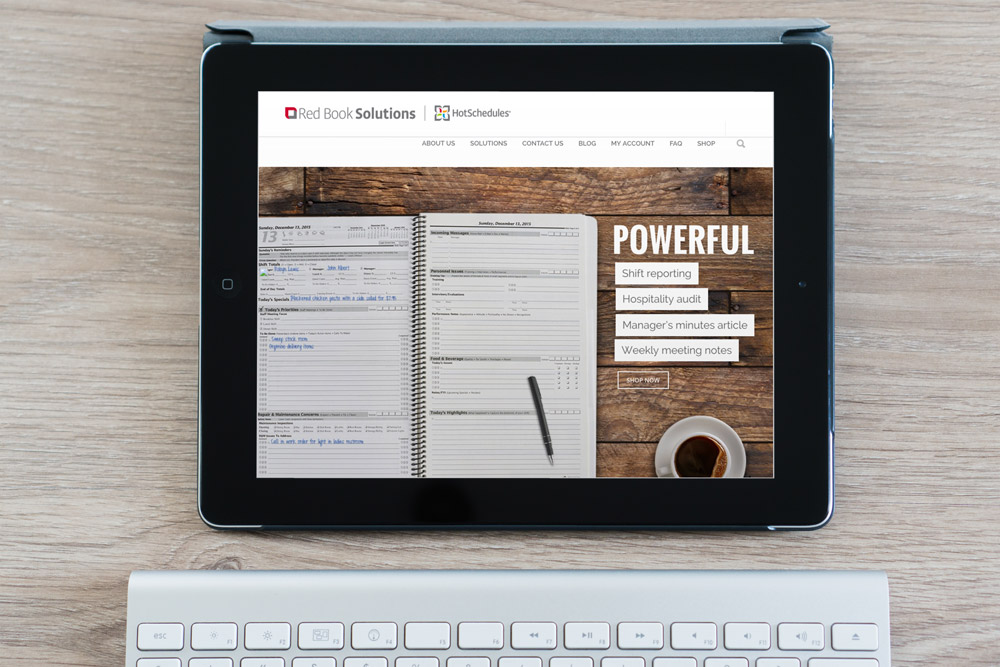 Responsive RedBookSolutions.com website designed by Designer Julie Mendez